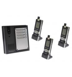 3 x Property 600 metre Wireless UltraCom Intercom System
