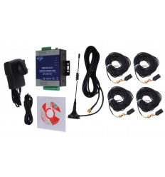 4 x channel 3G GSM Temperature Alarm with 20 metre Probes