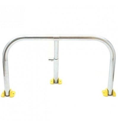 Galvanised Fold Down Hoop Barrier & Integral Lock