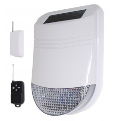 Wireless HY Solar Siren with Universal Transmitter