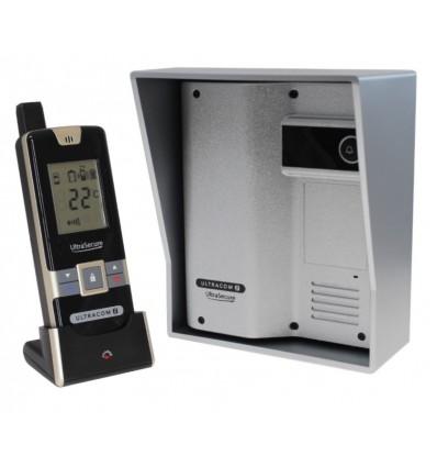Wireless Gate & Door Intercom (UltraCom2 No Keypad) Silver with Silver Hood
