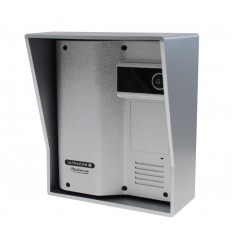 Caller Station for the Wireless Gate & Door Intercom (UltraCom2 No Keypad) Silver & Silver Hood