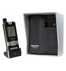 Wireless Gate & Door Intercom (UltraCom2 No Keypad) Black with Silver Hood