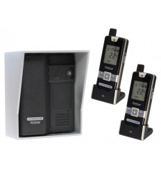 Wireless Gate & Door Intercom & 2 x Handsets (UltraCom2) Black with Silver Hood