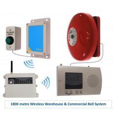 Extra Long Range (1800 metre) Wireless Warehouse 'S' Bell System