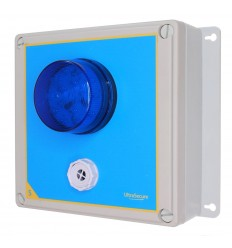 Wireless Alarm 'S' Type Siren Control Panel with Adjustable Siren & Blue Flashing LED