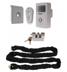 Chain, Lock & Battery PIR Alarm (Shed & Garage Security)