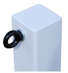 White 100P Removable Security Post & 1 x L/H Chain Eyelet