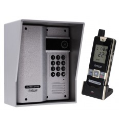 Wireless Gate & Door Intercom with Keypad (UltraCom2) Silver & Silver Hood
