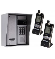 Wireless Gate & Door Intercom with Keypad & 2 x Handsets (UltraCom2) Silver & Silver Hood