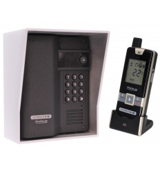 Wireless Gate & Door Intercom with Keypad (UltraCom2) Black & Silver Hood