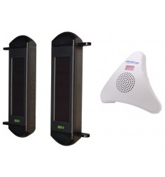 Long Range 1B Wireless Beam Alarm with Chime Receiver