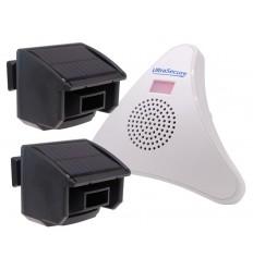 2 x PIR DA600-T Wireless Garden & Driveway Alarm Kit