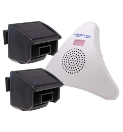 2 x PIR DA600-T Wireless Garden & Driveway Alarm