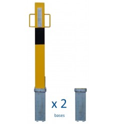 Heavy Duty Removable Security Post with Lift Out Handles