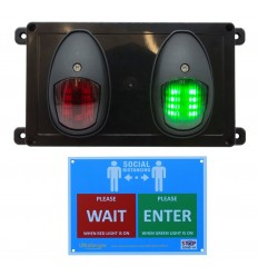 Wireless Door Entry Traffic Lighting Control System 2 with Wall Sign