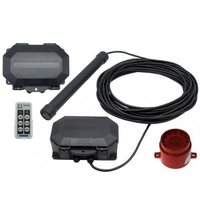 Metal Detecting Driveway Alarm & Outdoor Receiver with Adj Siren