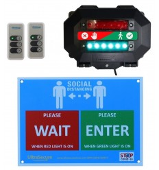Wireless Customer Entry Traffic Light Kit C with 2 x Intelligent Portable Controllers