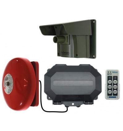 Long Range Wireless Driveway PIR Alarm with Outdoor Receiver & Loud Bell