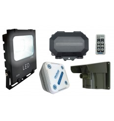 Floodlight Long Range Driveway PIR Alarm with Outdoor & Indoor Receiver