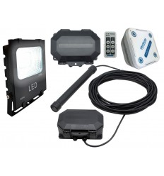 Flood Light with a Metal Detecting Driveway Alarm & Outdoor & Indoor Receiver