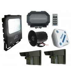 Wireless Outdoor Security Floodlight & Siren Wireless Driveway Alarm