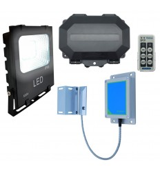 Wireless Magnetic Gate Alarm with Floodlight
