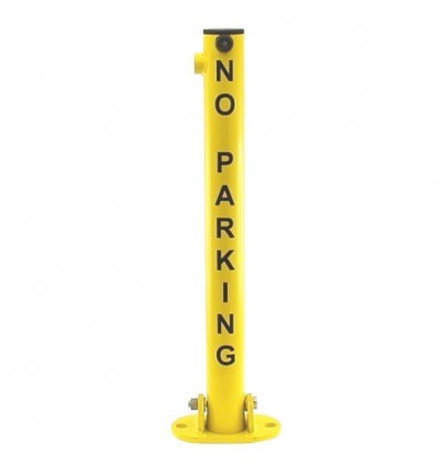 610Y 'No Parking' Fold Down Parking Post