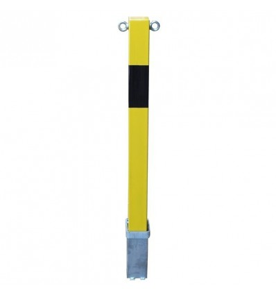 H/D Yellow 100P Removable Parking Post & Chain Eyelets
