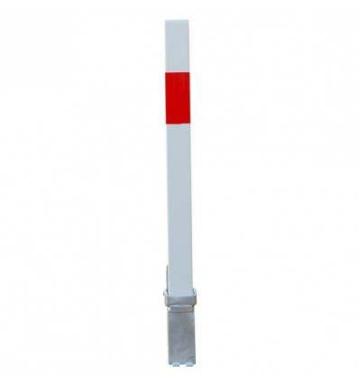 White & Red 100P Removable Parking & Security Post