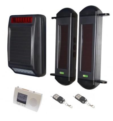 Wireless Perimeter Alarm with Solar Siren & Internal Receiver