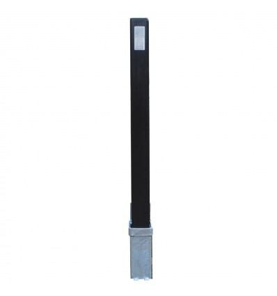 H/D Black 100P Removable Parking & Security Post with Reflective Pads